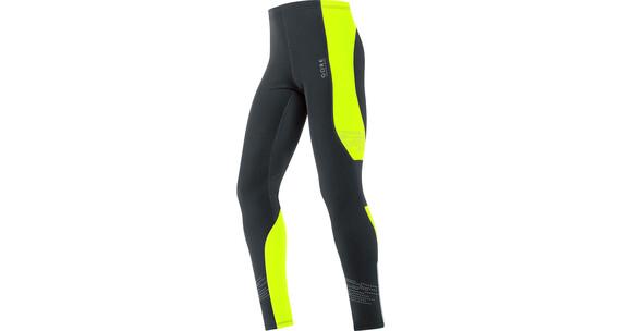 GORE RUNNING WEAR Mythos 2.0 Thermo Tights Men black/neon yellow